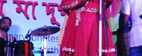 Mekhla (Zee Saregama) performing at BARSHA Durga Puja in Bangalore